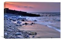 Amroth Beach and Groins, Canvas Print