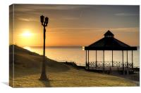 Castle Hill Bandstand, Tenby, Canvas Print