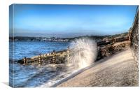 Amroth Sea Spray, Canvas Print