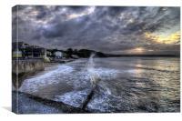 Saundersfoot Beach, Canvas Print