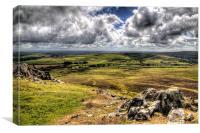 Preseli Hills landscape, Pembrokeshire, Canvas Print