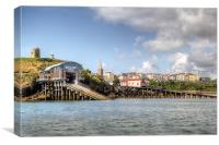 Tenby Life Boat Houses, Canvas Print