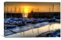 Saundersfoot Harbour Sunrise, Canvas Print