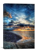 Amroth Beach Sunrise, Canvas Print