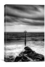 Amroth Beach Black and White, Canvas Print