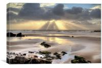 Amroth beach sunrise 2, Canvas Print