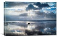 Amroth beach sunrise 3, Canvas Print