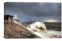 Porthcawl Point Storm, Canvas Print