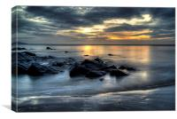 Saundersfoot beach sunrise, Canvas Print