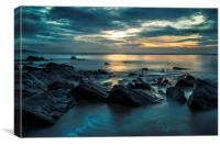 Saundersfoot at Dawn, Canvas Print