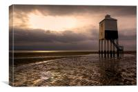 Burnham-on-Sea Low lighthouse, Canvas Print