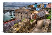 Down to Tenby Harbour, Canvas Print