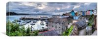 Tenby Harbour Panoramic, Canvas Print