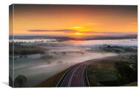Pembrokeshire Misty Sunrise, Canvas Print