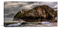 Tenby Island - St Catherines, Canvas Print