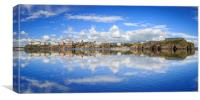 Tenby in Reflections, Canvas Print