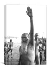 Sadhus at the Mahakumbhmela India, Canvas Print