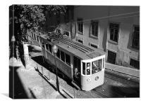 Tram uphill, Canvas Print