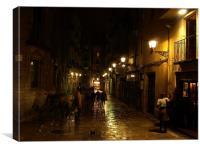 Barcelona After Rain, Canvas Print