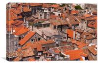 Rooftops in Spilt, Croatia, Canvas Print