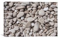 Pebbles on the beach, Hvar., Canvas Print
