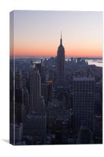 Empire State at dusk, Canvas Print