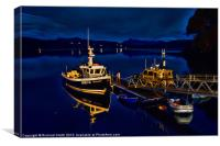 Portree pontoon just after midnight, Canvas Print