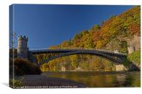 Craigellachie old Bridge., Canvas Print