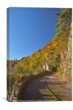 Old road to Craigellachie Bridge, Canvas Print