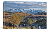 The Cuillin from Torvaig, Canvas Print