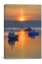 Dawn sunrise over Raasay, Canvas Print