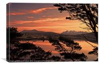 Sunset colour over Braes, Canvas Print