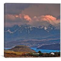 A view up Loch Harport, Canvas Print