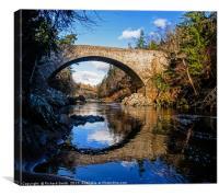 Daltuich bridge over the Findhorn river., Canvas Print