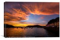 Portree harbour sunrise, Canvas Print