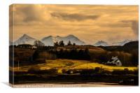 House beside the head of Loch Treaslane, Canvas Print