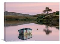 Fishing boat upon Loch Fada #2, Canvas Print