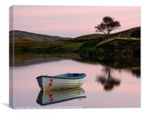 Fishing boat upon Loch Fada #3, Canvas Print