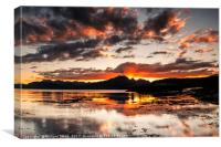 Sunset over the Cuillins, Canvas Print