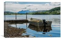 Loch Portree and the Cuillin Mountains, Canvas Print