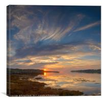 Sunset from The Aird, Bernisdale, Canvas Print