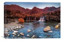 Waterfall on Allt Coir a Mhadaidh, The Fairy Pools, Canvas Print