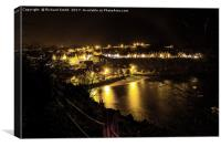 Portree on a dreich November evening, Canvas Print