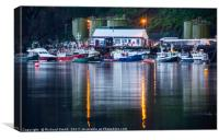 The business end of Portree pier., Canvas Print