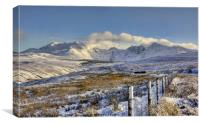 Snow covered Black Cuillin, Canvas Print