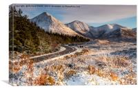 The main road south to Sligachan., Canvas Print