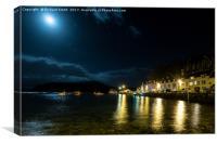 Moonlight over Loch Portree, Canvas Print