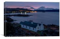 Cottage on Eilean Ban and Loch Alsh, Canvas Print