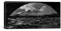 Black Cuillin from under an arch, Canvas Print