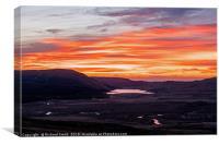 A sunset over Loch Niarsco, Canvas Print